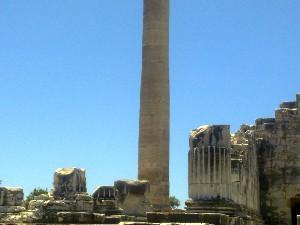 Temple of Apolo, Ionic pillar