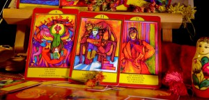 The colors of the Gypsy Palace Tarot cards are very bright
