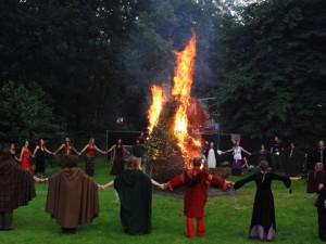 Wickerverbranding op Castle Fest 2012