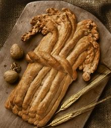 Lughnasadh-brood in de vorm van graan