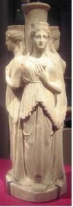 Alkamenes statue, Hekate, 420 BC (Museum of Antiquities, Leiden, the Netherlands)