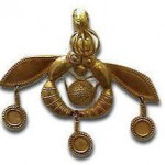Minoan Gold Bee pendant, Crete circa 2000 BC