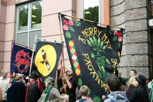 The Start of the Pagan Pride March by Sinjy and Sadie
