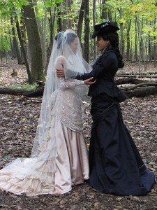 Wedding picture of two women, by Deborah