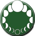 Logo rubriek Maanwandeling en pagina Moons, esbats en sabbats Wiccan Rede
