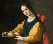 Saint Agatha by Francisco de Zurbaran