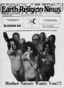 The green issue of Earth Religion News featuring the New York Coven of Witches (The Wica). June 1974.